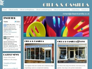 Cilla and Camilla website (2 Feb 2014)