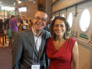 Graham Soult and Alex Polizzi at Autumn Fair 2013 (4 Sep 2013)