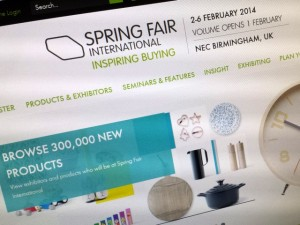 Spring Fair website (2 Feb 2014). Photograph by Graham Soult