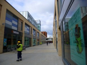 Opening day at Trinity Square, Gateshead (23 May 2013). Photograph by Graham Soult