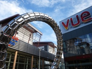 Halo and Vue Cinema, Trinity Square, Gateshead (13 Feb 2014). Photograph by Graham Soult