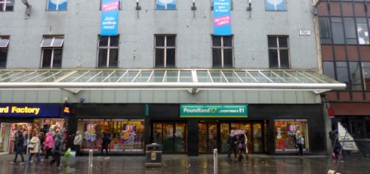 Poundland (former Woolworths), Argyle Street, Glasgow (20 Nov 2012). Photograph by Graham Soult