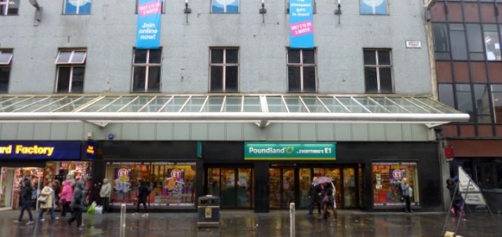 Poundland (former Woolworths), Argyle Street, Glasgow (20 Nov 2012). Photograph by Graham Soult