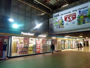 Poundland (former Woolworths), Birmingham Pallasades (3 Feb 2014). Photograph by Graham Soult