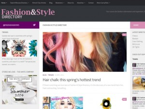 Fashion & Style Directory homepage (10 Apr 2014)