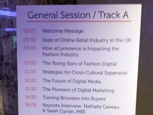Fashion Digital UK agenda (8 Apr 2014). Photograph by Graham Soult