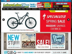 Leisure Lakes Bikes website (28 Apr 2014)