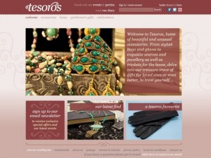 Tesoros homepage (11 Apr 2014)