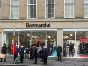 Relocated Bonmarché in Grainger Street, Newcastle (3 Apr 2014). Photograph by Graham Soult