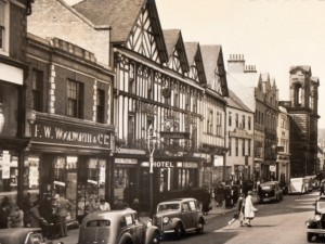 1930s postcard of Morpeth Woolworths