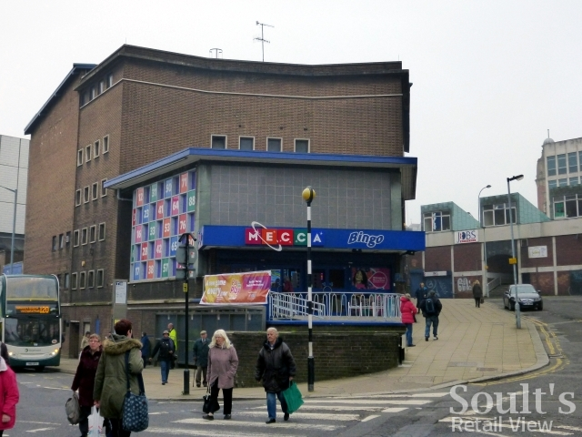 Mecca bingo club, Sheffield city centre (31 Mar 2014). Photograph by Graham Soult