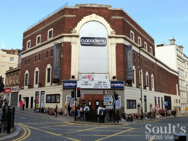 Ex-Gala bingo in Westgate Road, Newcastle - now the O2 Academy (15 Apr 2014). Photograph by Graham Soult