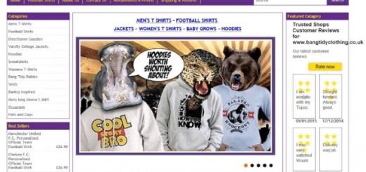 Bang Tidy Clothing homepage