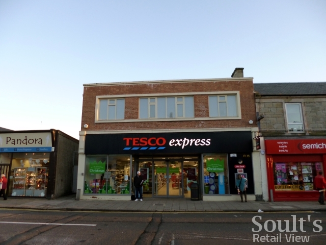 Tesco Express, Troon (former Woolworths) (21 Nov 2012). Photograph by Graham Soult