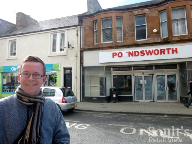 Me outside the empty Woolworths in Girvan (26 Mar 2015)