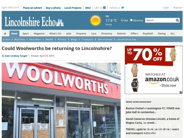 The now-deleted Lincolnshire Echo coverage