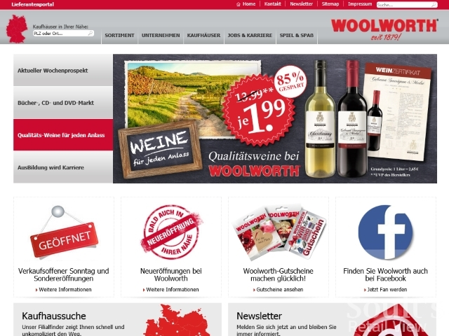 Woolworths Germany website (1 Jun 2015)