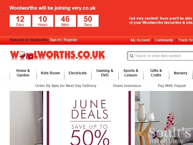 Woolworths.co.uk with closure countdown (1 Jun 2015)