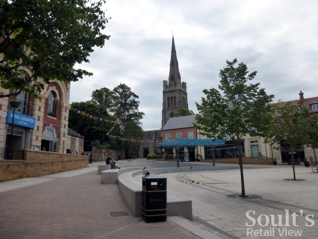 Market Place, Kettering (25 Jun 2015). Photograph by Graham Soult
