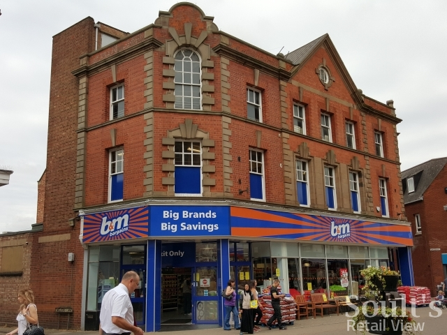 Former Woolworths in Kettering - now B&M (25 Jun 2015). Photograph by Graham Soult