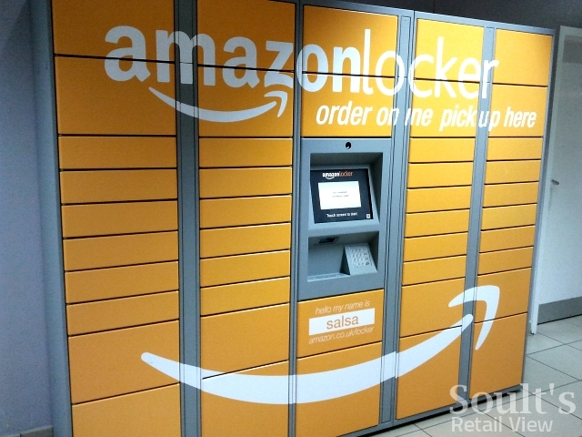 Amazon lockers in Paisley (8 Feb 2013). Photograph by Graham Soult