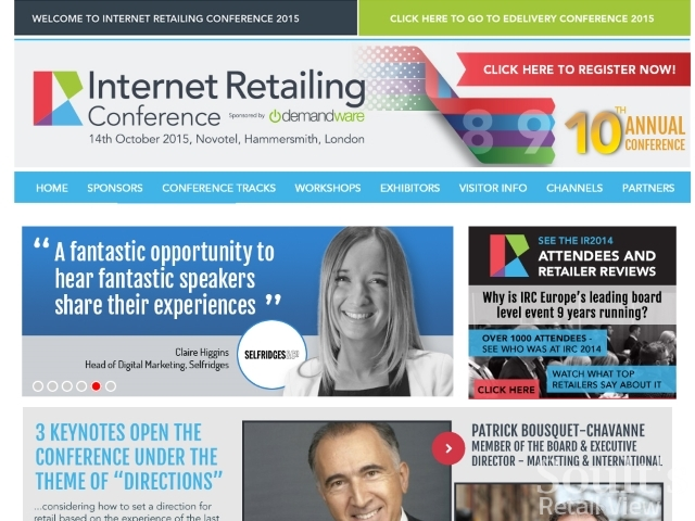 Internet Retailing Conference website