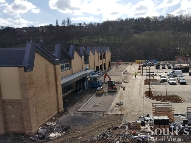 The block intended for Tesco will now be split into three for Aldi, Home Bargains and Poundworld (16 Mar 2016). Photograph by Graham Soult