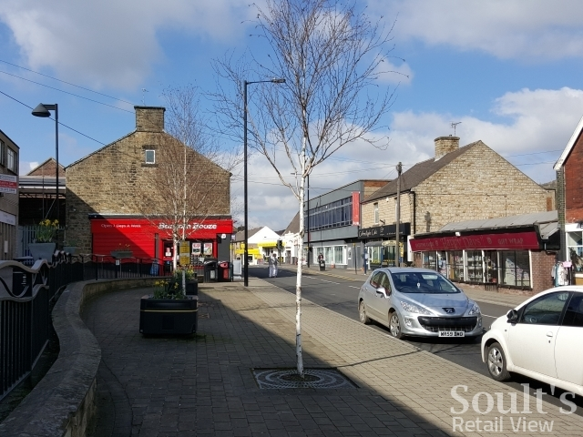Shops in Manchester Road, Stocksbridge (16 Mar 2016). Photograph by Graham Soult