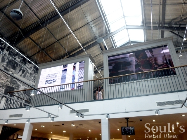Digital screens at Sandersons department store (1 Sep 2016). Photograph by Graham Soult