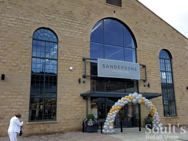 Exterior of Sandersons department store (1 Sep 2016). Photograph by Graham Soult
