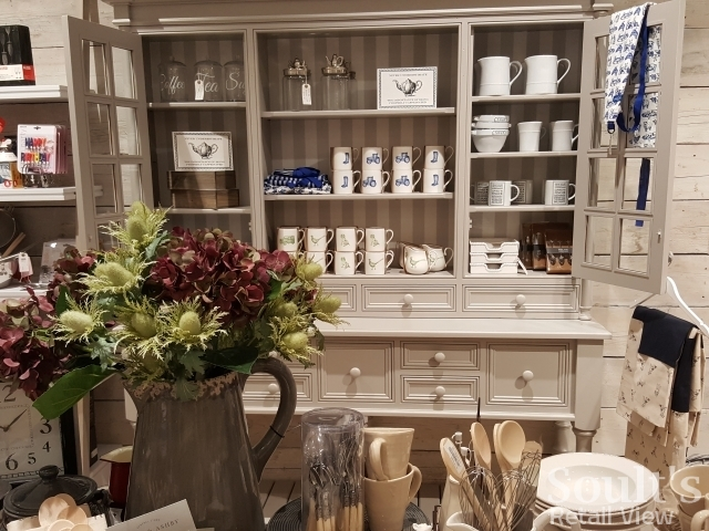 Creative merchandising in the home department at Sandersons department store (1 Sep 2016). Photograph by Graham Soult
