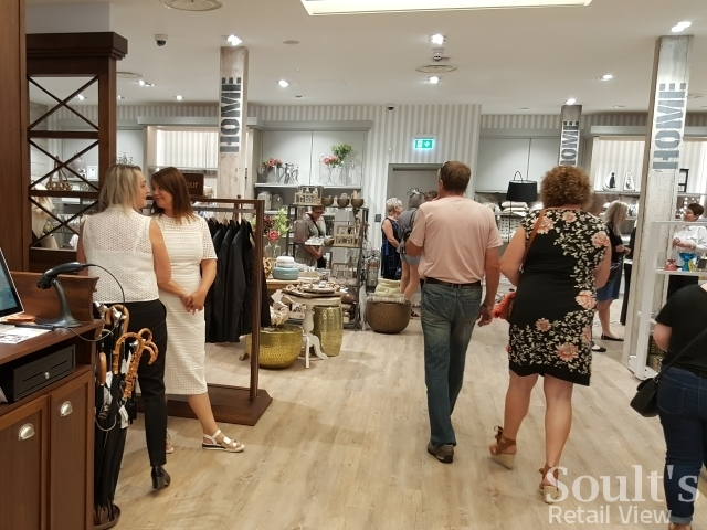 Homeware and menswear at Sandersons department store (1 Sep 2016). Photograph by Graham Soult