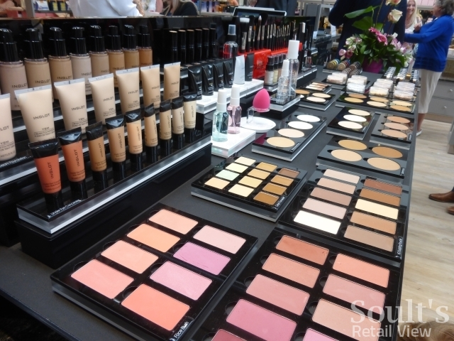 Inglot cosmetics counter at Sandersons department store (1 Sep 2016). Photograph by Graham Soult