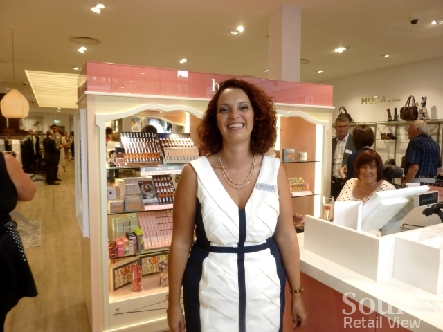 Sandersons store manager Lisa Fox on opening day (1 Sep 2016). Photograph by Graham Soult