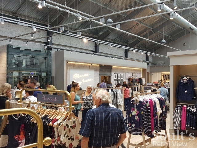 Womenswear upstairs at Sandersons department store (1 Sep 2016). Photograph by Graham Soult