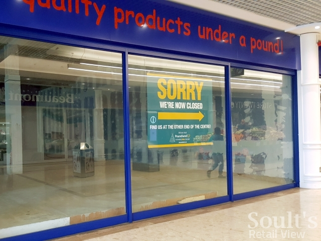Unconverted 99p Stores in Dartford, close to an existing Poundland (29 Mar 2017). Photograph by Graham Soult