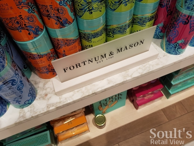 Existing Fortnum & Mason products in Fenwick Newcastle (25 Apr 2017). Photograph by Graham Soult