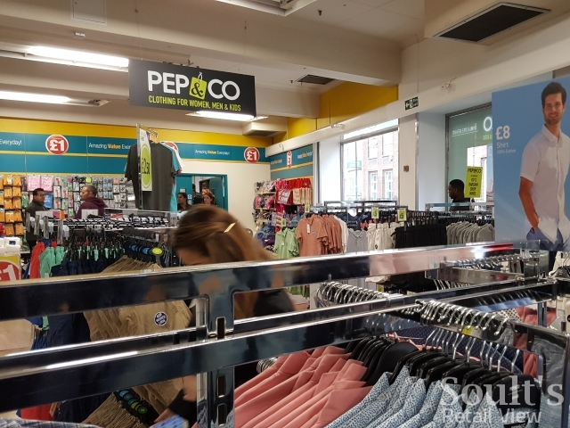 Pep&Co inside Poundland in Woolwich (29 Mar 2017). Photograph by Graham Soult