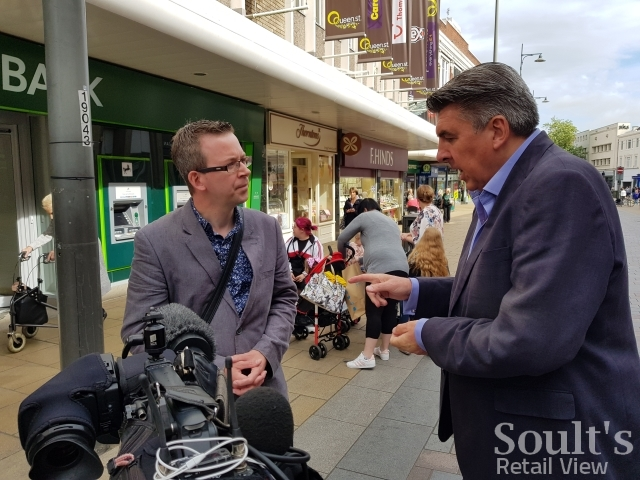 Filming with the BBC's Ian Reeve in Darlington (25 Aug 2017)