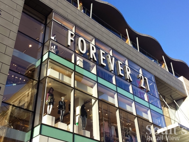 Forever 21 in Glasgow - now closed (5 Dec 2014). Photograph by Graham Soult