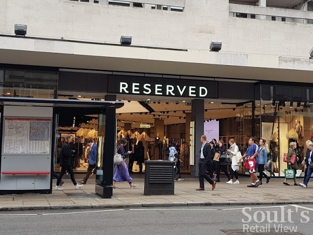 Reserved's main frontage to Oxford Street (8 Sep 2017). Photograph by Graham Soult