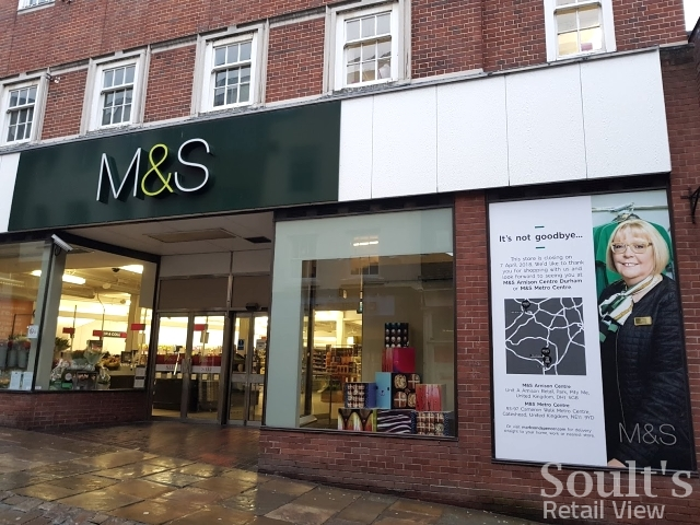 Marks & Spencer in Durham in the days before closure (27 Mar 2018). Photograph by Graham Soult