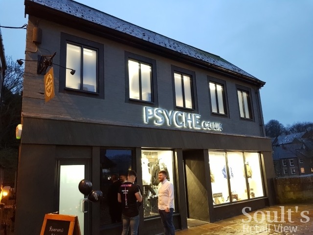 Exterior of Psyche on the evening of its official opening (12 Apr 2018). Photograph by Graham Soult